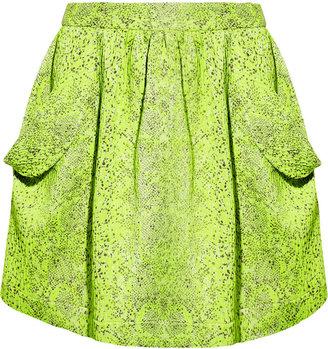 Vivienne Westwood Scale neon textured-jacquard mini skirt