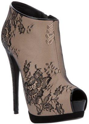 Giuseppe Zanotti Design Lace peep toe boot