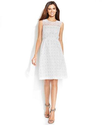 Calvin Klein Sleeveless Illusion Dress