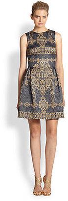 Monique Lhuillier Inverted Pleat Dress