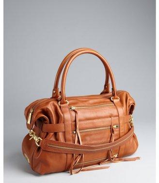 Botkier brown leather 'Venice' three side zip satchel