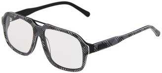 9Five Fronts (Black & White Houndstooth Plaid Reader) - Eyewear