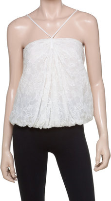 Max Studio Embroidered Lace Halter Top