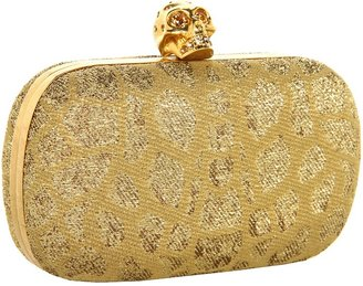 Alexander McQueen Classic Skull Clutch (White/Gold) - Bags and Luggage