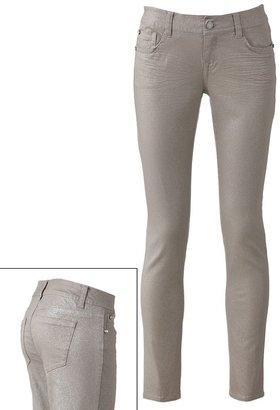 Wallflower foil skinny jeans - juniors
