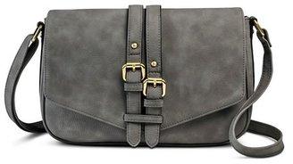 Merona Women's Vertical Buckles Crossbody Faux Leather Handbag - Merona $29.99 thestylecure.com
