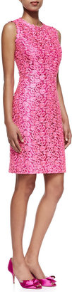 Kate Spade della lace sheath dress, Hot Pink