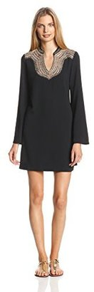 Juicy Couture Women's Tapestry Bell Sleeve Dress