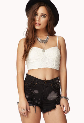 Forever 21 Crochet Lace Bustier