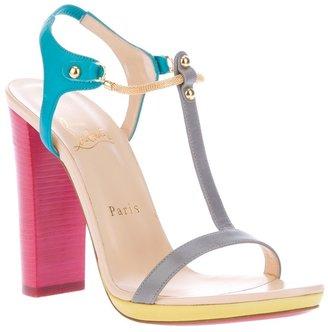 Christian Louboutin colour block sandal