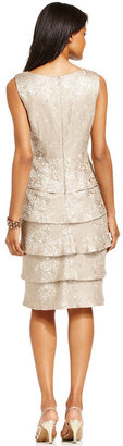 R & M Richards R&M Richards Tiered Embellished Dress and Jacket