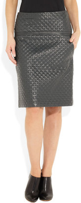 Chloé Quilted leather skirt
