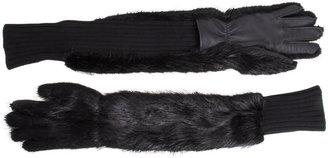 Marni Long Fur Gloves