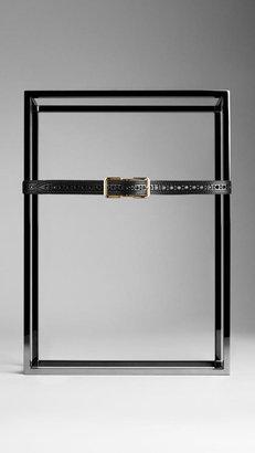 Burberry Brogue Detail Bridle Leather Belt