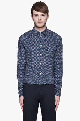 Paul Smith Blue paisley button-up shirt