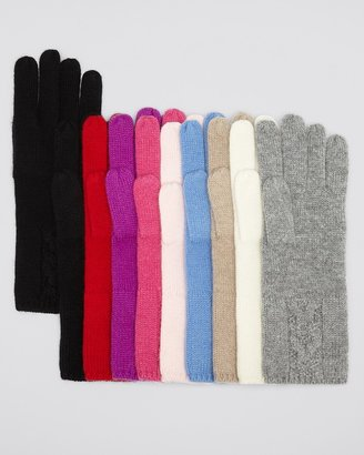 Bloomingdale's C by Cashmere Cable Knit Gloves