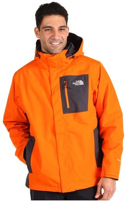 The North Face Cassius Triclimate Jacket (Oriole Orange/Asphalt Grey) - Apparel