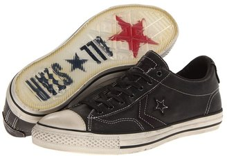 Converse by John Varvatos Star Player EV Ox - Tumbled Grain Leather (Charcoal Gray/Chocolate) Lace up casual Shoes