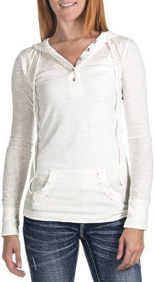 Panhandle Slim Hooded Henley Shirt - Long Sleeve (For Women)