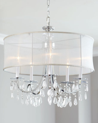"""Horchow """"Hampton"""" Shaded Chandelier"""