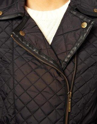Lipsy Quilted Belted Biker Jacket