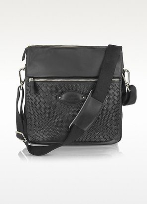Fontanelli Woven Calf Leather Messenger Bag