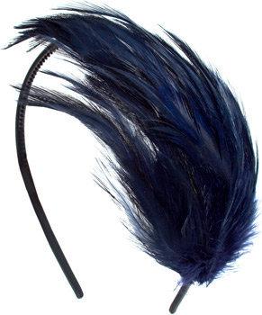 Fred Flare Deep Navy Feather Headband