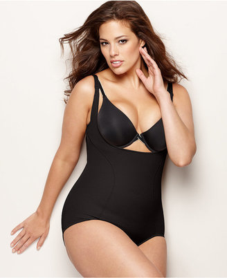 Maidenform Plus Size Firm Control Wear Your Own Bra Open Bust Body Shaper 12657 $59 thestylecure.com