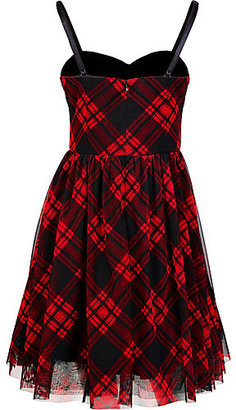 Betsey Johnson Strapless Plaid Party Dress