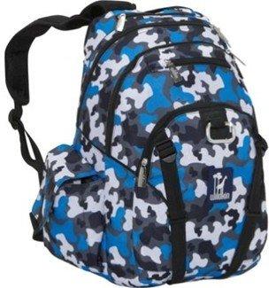 Camo Wildkin Blue Serious Backpack