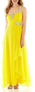 Ruby Rox One-Shoulder Embellished Dress