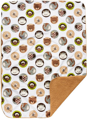 Triboro Quilt Mfg Co Just Born Neutral Zootopia Blanket