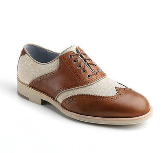 Johnston & Murphy Ellington Leather and Linen Wingtip Oxfords