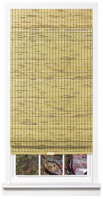 Cordless Burnout Bamboo Roman Shade, 27x64