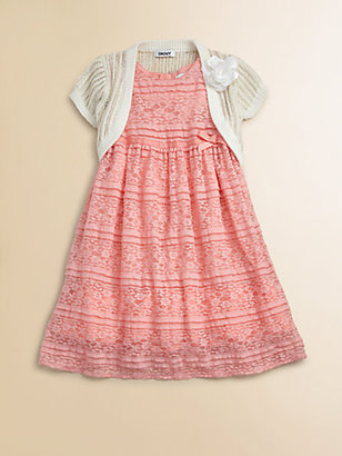 DKNY Toddler's & Little Girl's Stretch Lace Dress