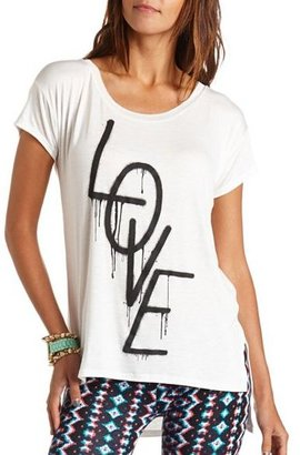 Charlotte Russe Hi-Low Love Graphic Tunic