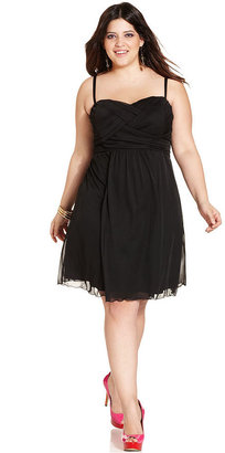 Love Squared Plus Size Dress, Sleeveless Empire A-Line