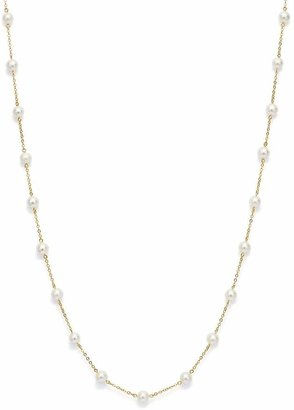 """Bloomingdale's Cultured Freshwater Pearl Station Necklace in 14K Yellow Gold, 18"""""""