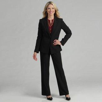 Tahari Women's Black/ White Pinstriped Pant Suit $84.79 thestylecure.com