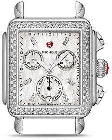 Michele Deco Diamond Dial Watch Head, 33mm x 35mm