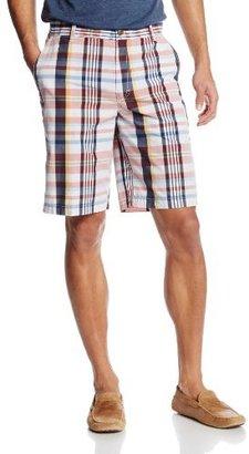 Izod Men's Yarn-Dyed Poplin-Plaid Short