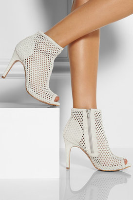 Pedro Garcia Perforated suede ankle boots