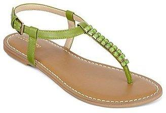 Liz Claiborne Gypsy Beaded Flat Thong Sandals