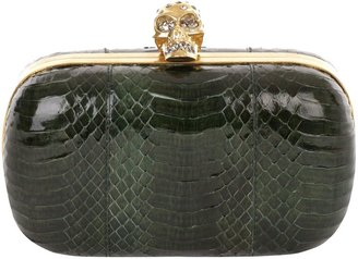 Alexander McQueen Bottle Green Devil Snake Skull Box Clutch