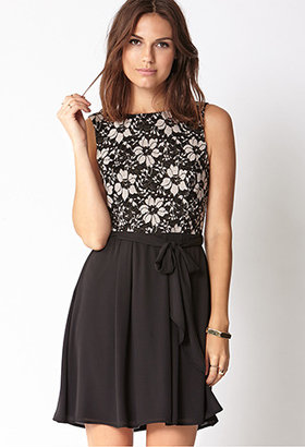 Forever 21 Cocktail Hour Lace Dress w/ Sash