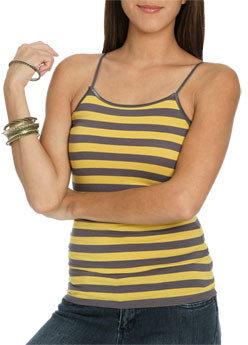 Wet Seal WetSeal Striped Kaylee Cami Black