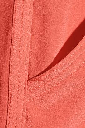 DKNY Stretch-silk crepe de chine shorts
