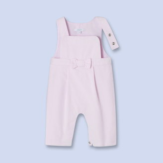 Jacadi Bow trimmed overalls