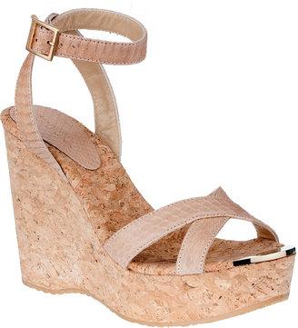Jimmy Choo Papyrus cork wedge sandal