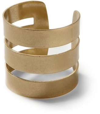 Anne Klein Hive & Honey Three Row Cuff Bracelet